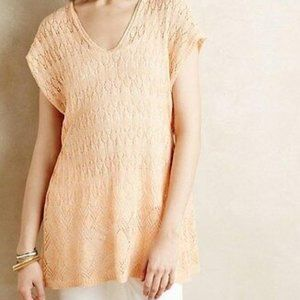 MOTH | Anthro Hooded Pointelle Pullover Knit
